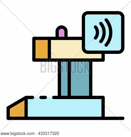 Cashier Nfc Payment Icon. Outline Cashier Nfc Payment Vector Icon Color Flat Isolated