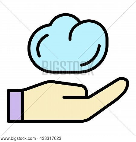 Potter Clay Icon. Outline Potter Clay Vector Icon Color Flat Isolated