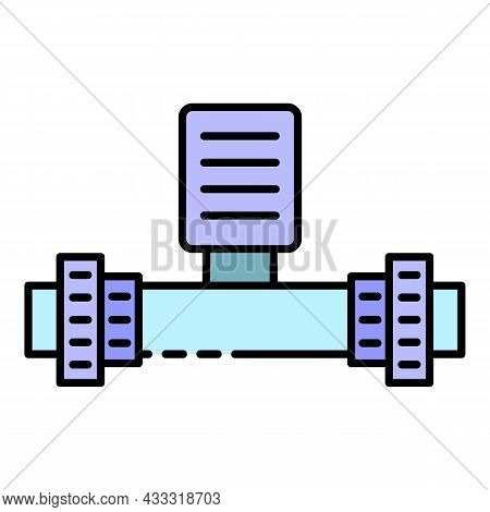 Pool Pipe Equipment Icon. Outline Pool Pipe Equipment Vector Icon Color Flat Isolated