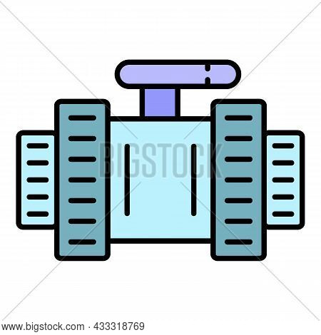 Pool Water Tap Icon. Outline Pool Water Tap Vector Icon Color Flat Isolated