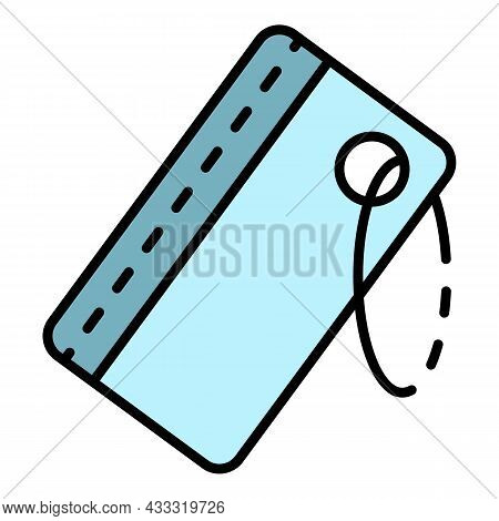 Snorkeling Id Card Icon. Outline Snorkeling Id Card Vector Icon Color Flat Isolated