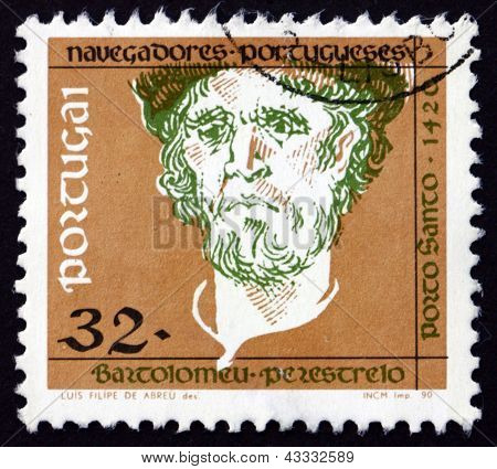 Postage Stamp Portugal 1990 Bartolomeu Perestrelo, Navigator And Explorer
