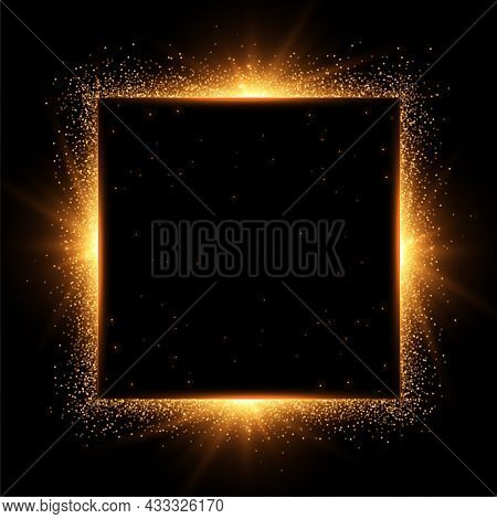 Sparkles Frame With Text Space Vector Design Illustration