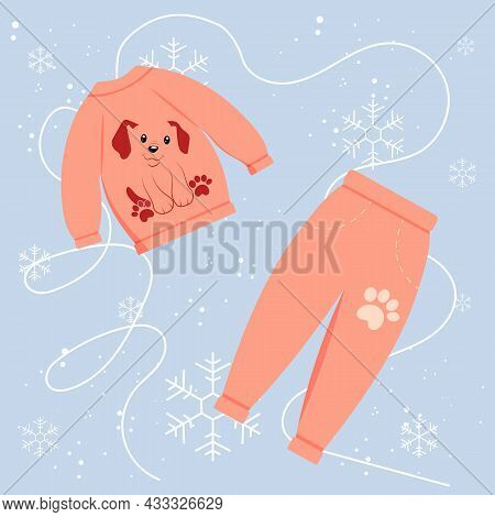 Children's Winter Suit With A Print