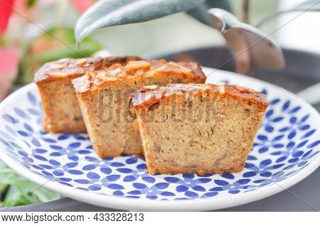 Cake ,banana Cake Or Nut Cake Or Piece Of Cake