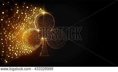 Clubs Symbol Made With Particles Background Vector Design Illustration