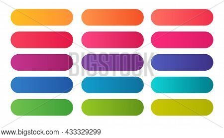 Elegant Colorful Gradient Shades Big Set Vector Design Illustration