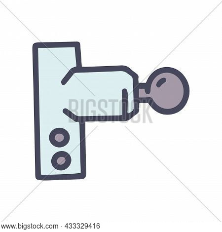 Electric Shock Massager Color Vector Doodle Simple Icon