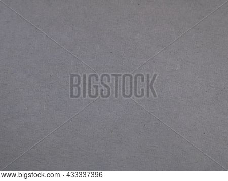 Gray Background Of Smooth Soft Paper, Empty Mono-knock Backdrop Of A Dark Shade, Monochrome Gray Pap