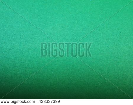 Green Even Texture Of Copy Space, Colored Paper Of Emerald Color With A Textured Surface, Bright Col