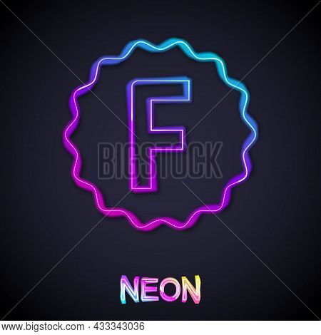 Glowing Neon Line Exam Paper With Incorrect Answers Survey Icon Isolated On Black Background. Bad Ma