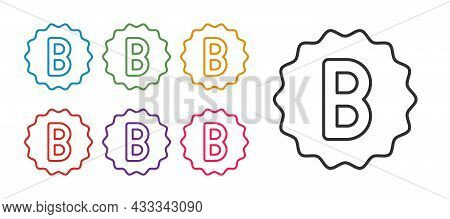 Set Line Exam Paper With Incorrect Answers Survey Icon Isolated On White Background. Bad Mark Of Tes