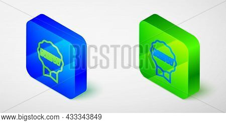 Isometric Line Price Tag With An Inscription New Icon Isolated Grey Background. Badge For Price. Pro