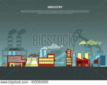 Industry Concept With Abstract Isolated Vector Illustration