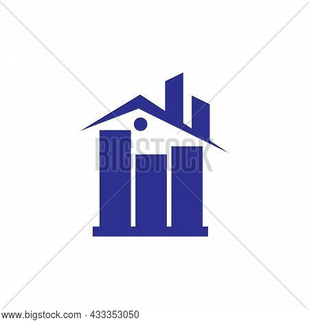 Abstract Residence Home Logo Icon Flat Concept Vector Graphic Design