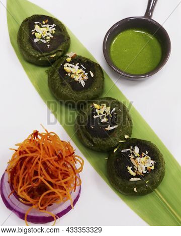 Hara Bhara Kababs Or Kebab, Healthy Vegan And Vegetarian Indian Street Snack Made With Potatoes, Spi