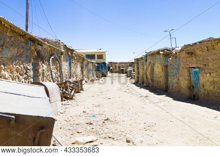 Potosi Miner Houses View,bolivia. Bolivian Mining City