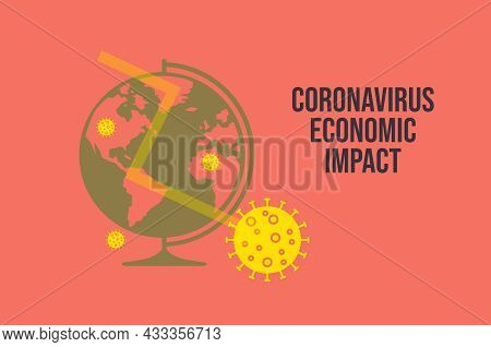 Stock Market Down On Coronavirus Fears. Economic Crisis Concept.