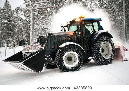 Snow Plow Vehicle
