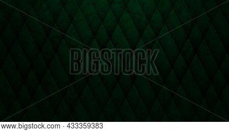 Gorgeous Dark Green Textured Design, Marble Effect, Oblique Dark Stripes