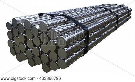 Big Rebar Pack - Isolated Cg Industrial 3d Illustration
