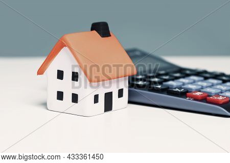 Mortgage Calculator Or Real Estate Business Concept