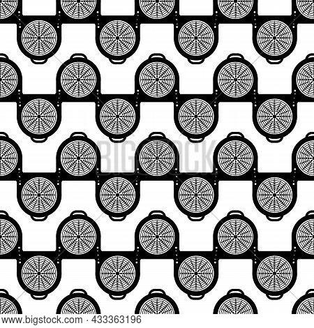 Fan Fireplace Pattern Seamless Background Texture Repeat Wallpaper Geometric Vector