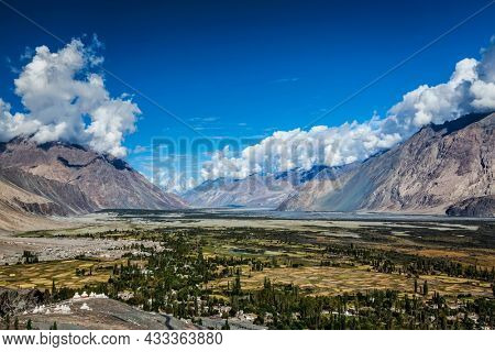View of Nubra valley in Himalayas. Ladakh, India