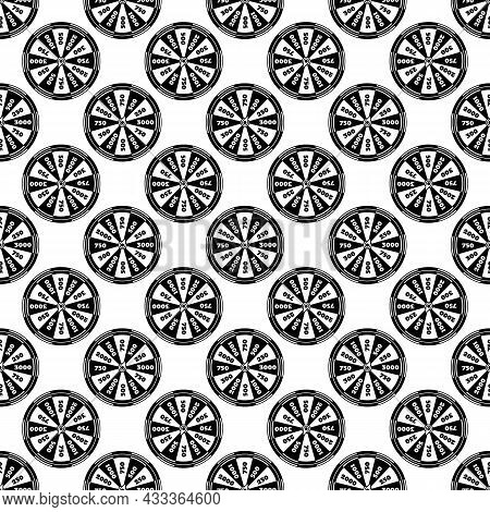 Spinning Fortune Wheel Pattern Seamless Background Texture Repeat Wallpaper Geometric Vector