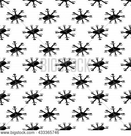 Multi Copter Drone Pattern Seamless Background Texture Repeat Wallpaper Geometric Vector