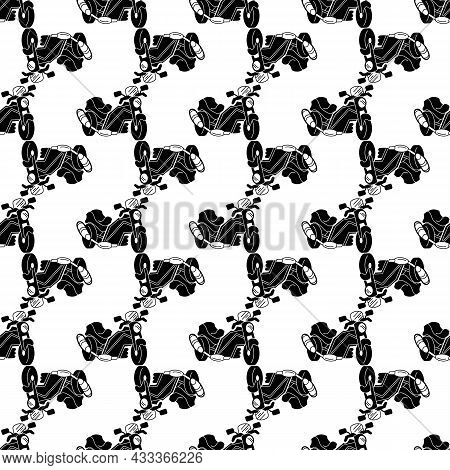 Motorbike With Exhaust Pattern Seamless Background Texture Repeat Wallpaper Geometric Vector