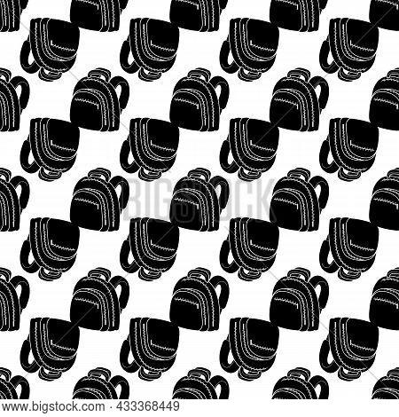 Zipper Backpack Pattern Seamless Background Texture Repeat Wallpaper Geometric Vector