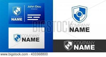 Logotype Shield Icon Isolated On White Background. Guard Sign. Security, Safety, Protection, Privacy