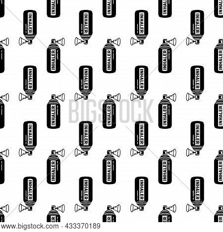 Spray Inhaler Pattern Seamless Background Texture Repeat Wallpaper Geometric Vector