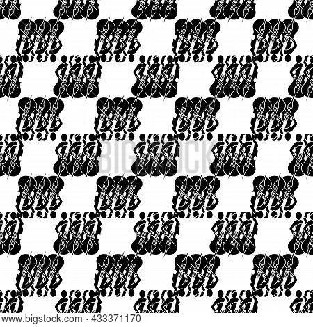 Musician Orchestra Pattern Seamless Background Texture Repeat Wallpaper Geometric Vector