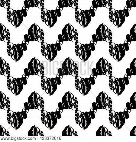 Cd In Hand Pattern Seamless Background Texture Repeat Wallpaper Geometric Vector