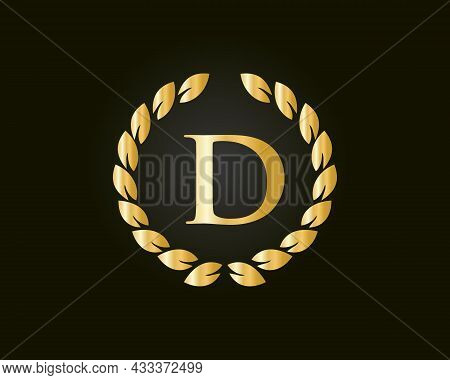 Initial Letter D With Luxurious Concept. D Luxury Logo Template In Vector For Restaurant, Royalty, B