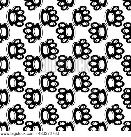 Brass Knuckles Pattern Seamless Background Texture Repeat Wallpaper Geometric Vector