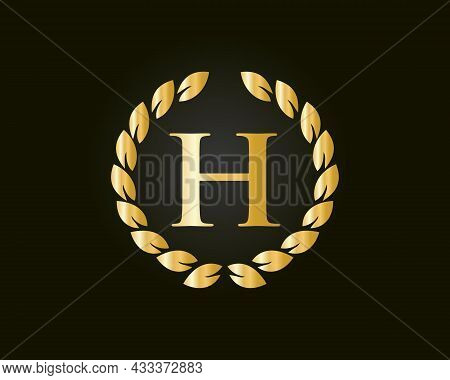 Monogram H Logo With Luxurious Concept. H Luxury Logo Template In Vector For Restaurant, Royalty, Bo
