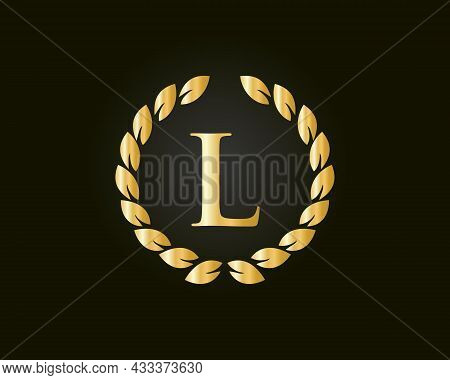 Initial Letter L Logo With Luxurious Concept. L Luxury Logo Template In Vector For Restaurant, Royal