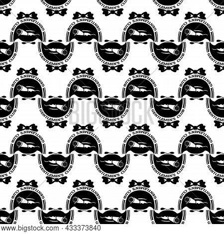 Gentleman Bow Tie Club Logo. Simple Illustration Of Gentleman Bow Tie Club Vector Logo For Web Desig
