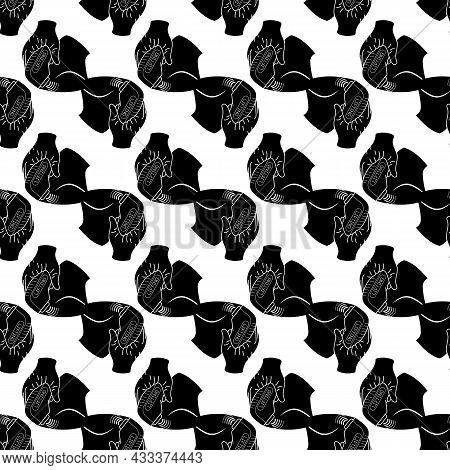Device Face Lifting Pattern Seamless Background Texture Repeat Wallpaper Geometric Vector