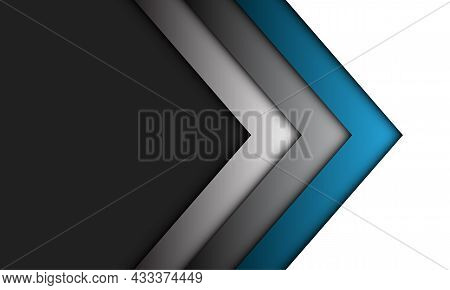 Abstract Blue Grey Arrow Direction On Grey With Blank Space Design Modern Luxury Futuristic Technolo