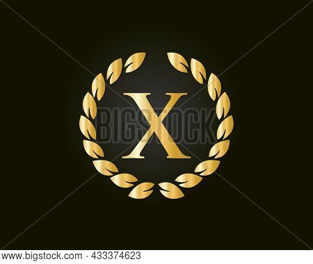 Initial Monogram X Logo With Luxurious Concept. X Luxury Logo Template In Vector For Restaurant, Roy