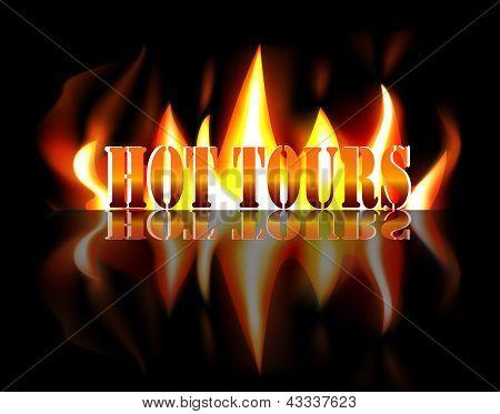 Горячие туры - текст в пламя огня