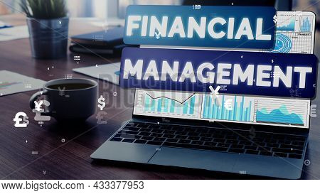 Finance And Money Transaction Technology Conceptual . Icon Graphic Interface Showing Fintech Trade E
