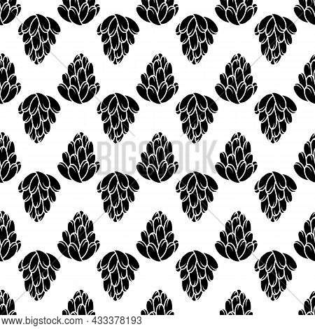 Succulent Plant Pattern Seamless Background Texture Repeat Wallpaper Geometric Vector
