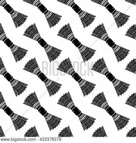 Shuttlecock Equipment Pattern Seamless Background Texture Repeat Wallpaper Geometric Vector