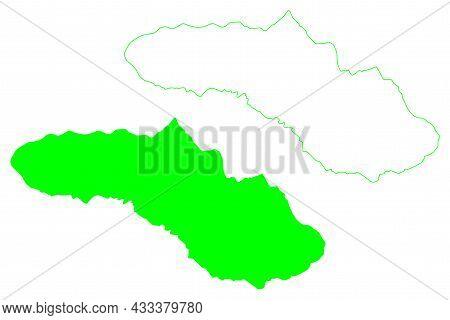 Sumba Island (republic Of Indonesia, South East Asia, Lesser Sunda Islands) Map Vector Illustration,