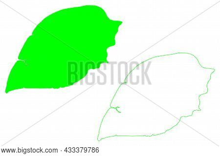 Yos Sudarso Island (republic Of Indonesia, South East Asia) Map Vector Illustration, Scribble Sketch